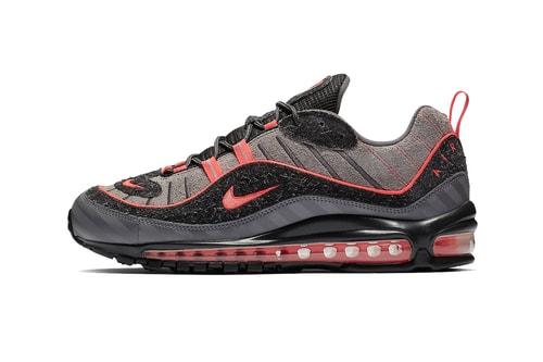 "Nike's Air Max 98 To Drop In ""Gunsmoke/Lava Glow"" Colorway"