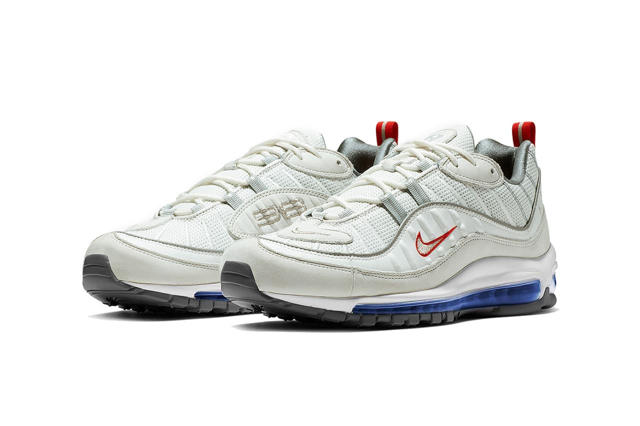 nike air max 98 summit white metallic silver footwear nike sportswear footwear