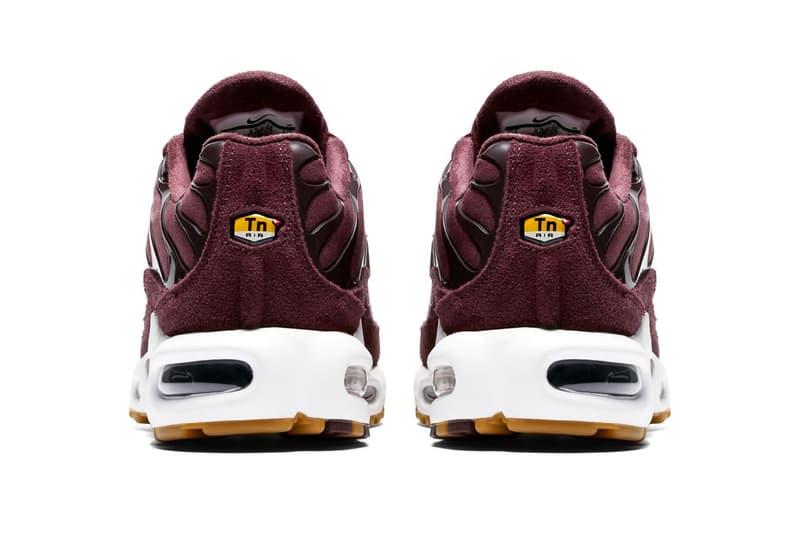 Nike Air Max Plus SE Bordeaux Release Info Date Gum Sole sneakers kicks shoes footwear trainers style hypebeast