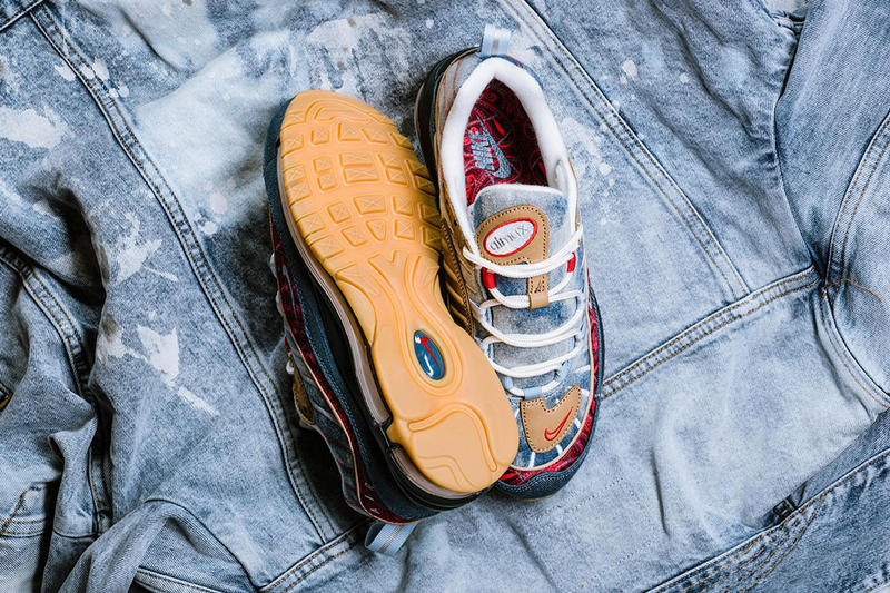 "Nike Air Max ""Wild West"" Pack Air Max 95 97 98 Release Information Denim Suede Paisley"