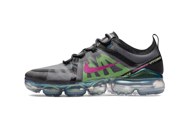 nike air vapormax 2019 black active fuchsia photo blue footwear nike running january shoes sneakers grey gray green details info information cost price pricing release date when