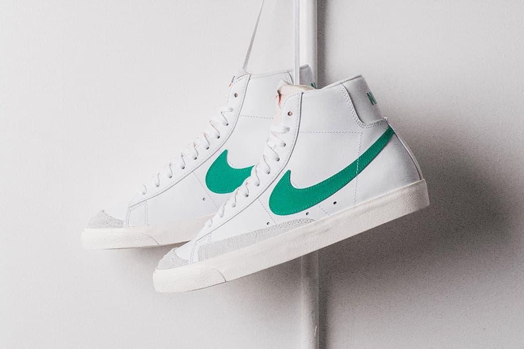 "Nike DEbuts a ""Lucid Green/Sail White"" Blazer Mid 77 Vintage"