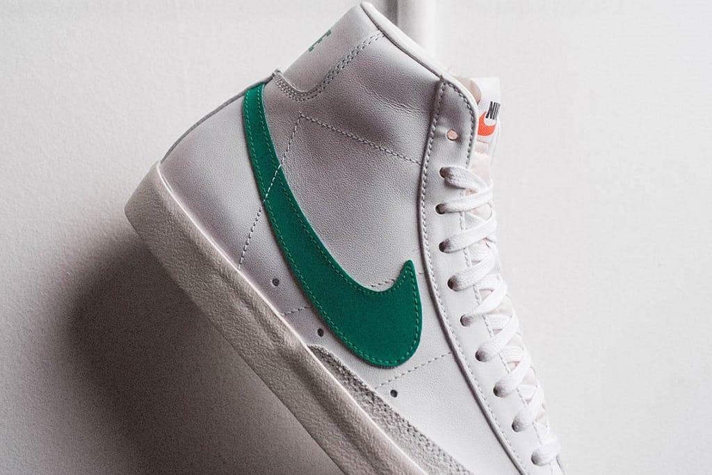 nike blazer mid 77 white green