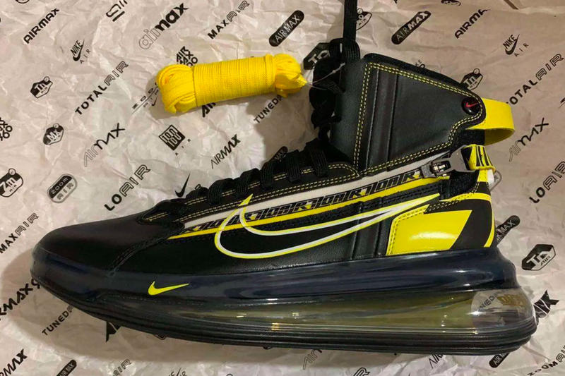 quality design 33b22 c6bad A Auto Racing-Inspired High-Top Air Max 720 Surfaces black yellow images  footwear