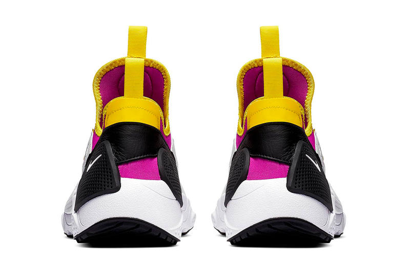 Nike Air Huarache Edge TXT Purple yellow white swoosh tinker hatfield