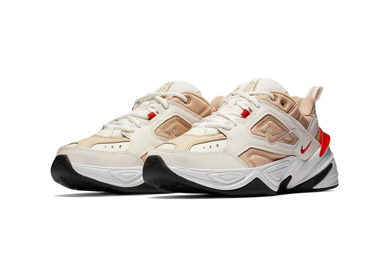 "Nike M2K Tekno ""Sail/Habanero Red"" Colorway Comes To The Dad Shoe"