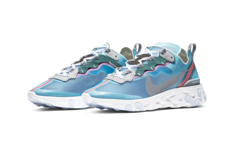 Nike React Element 87 Royal Tint Release Info Date Black Wolf Grey Solar Red