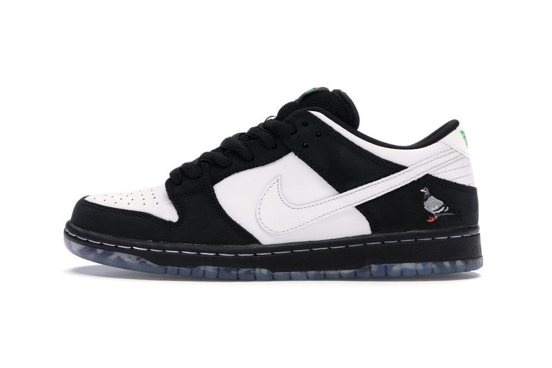 "Nike SB Dunk Low ""Panda Pigeon"" Store List jeff staple china new york city jeffstaple stockx black white green skateboarding"