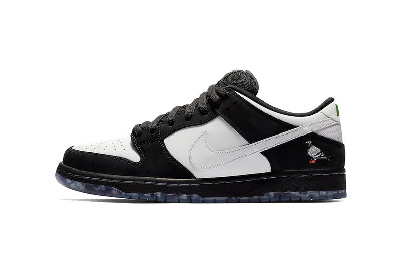nike sb dunk low pro panda pigeon release date 2019 january footwear jeffstaple jeff staple design white back sample not for resales newspaper
