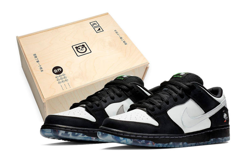 "huge selection of 7dcaf e8187 Nike SB Dunk ""Panda Pigeon"" Wooden Box Package extra butter swoosh"