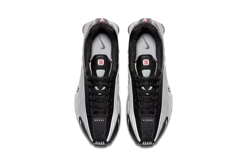 nike shox r4 og black metallic silver max orange 2019 february release date footwear
