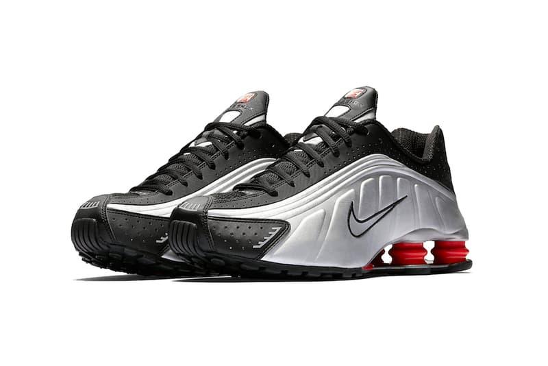 d205136a60ba nike shox r4 og black metallic silver max orange 2019 february release date  footwear