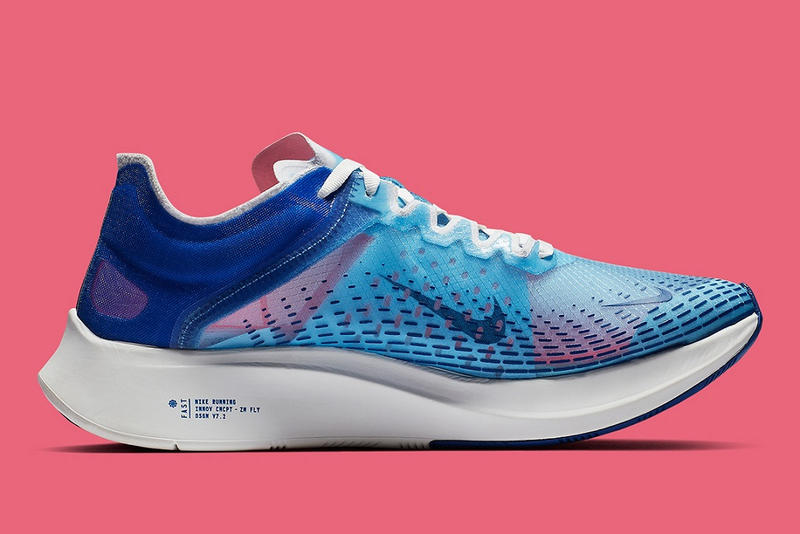 Nike Zoom Fly SP fast indigo fog red orbit release date blue sneakers shoes release date info buy 2019 cost price january fall winter fw18 spring ss19 details pictures pics imagery images pink womens female