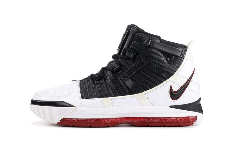 88e42a7fb2a nike zoom lebron 3 home 2019 february footwear lebron james nike basketball  black white varsity crimson