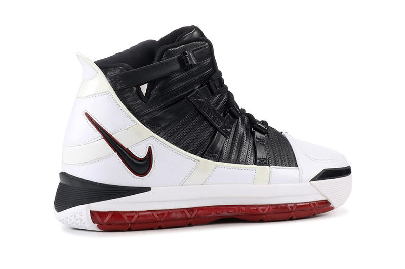 bf8c31afc6a16 nike zoom lebron 3 home 2019 february footwear lebron james nike basketball  black white varsity crimson