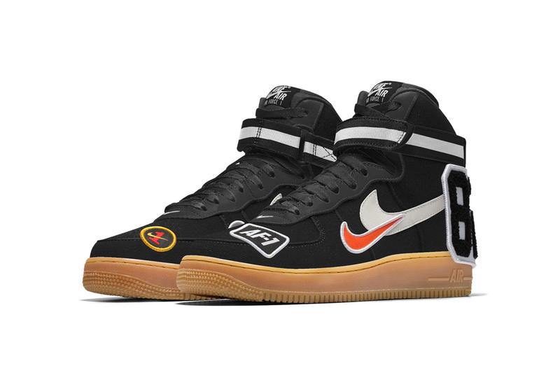 NIKEiD Custom Patch Nike Air Force 1 Sneakers Footwear info prices images customized patches nikeid by you