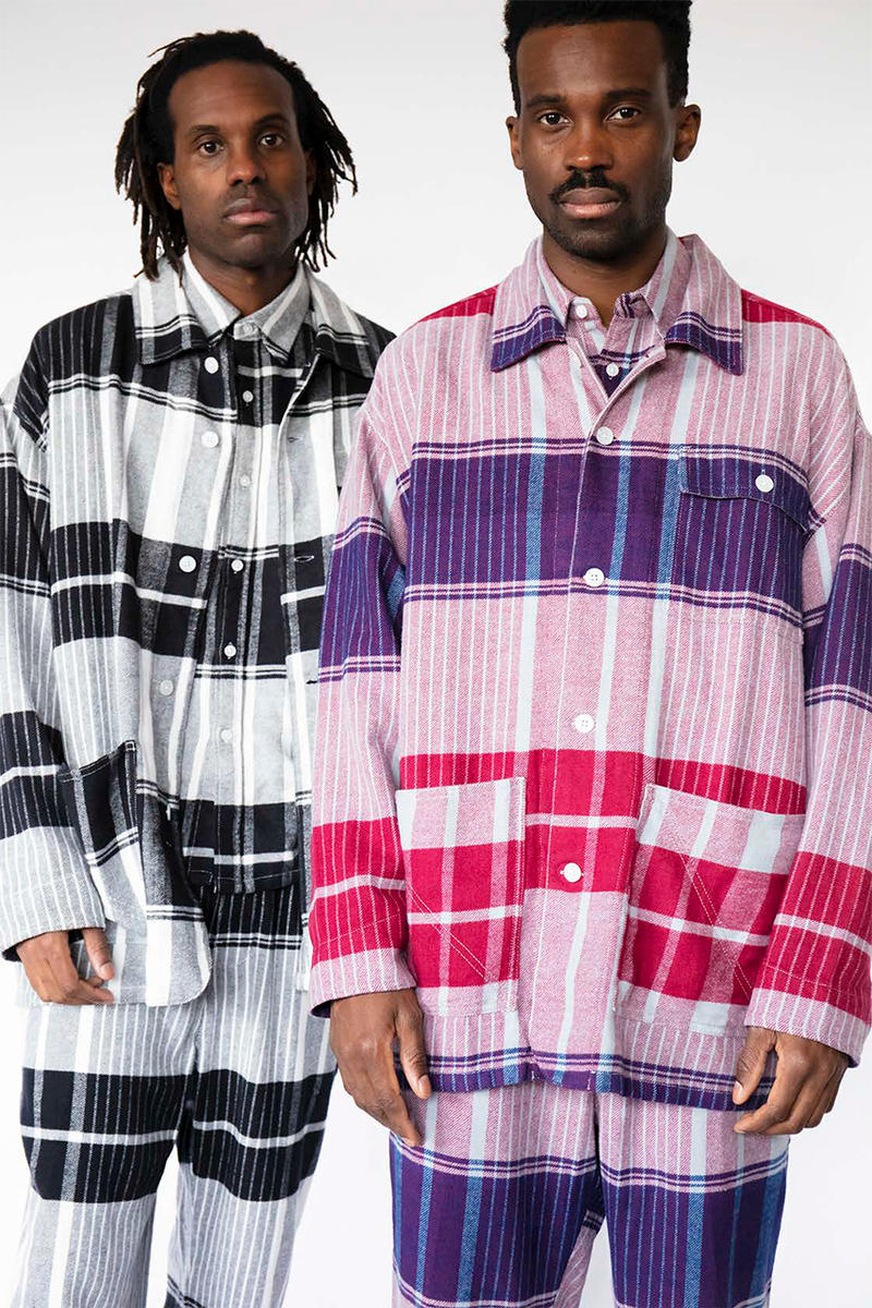 "NOMA t.d. ""Harmony"" Fall Winter 2019 Lookbook Collection First Look Tie Dye Embroidery Jacquard Reversible Amazon Tokyo Fashion Week"