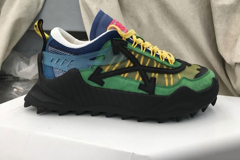 Virgil Abloh Off-White™ ODSY-1000 running model sneaker shoe drop release date info colorways first look sneaker