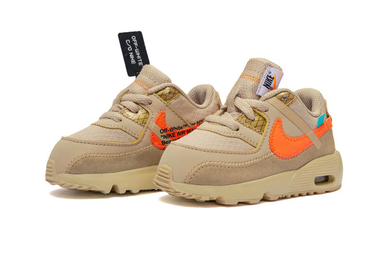 Off White Nike Air Max 90 Baby Size Release Toddler Desert Ore Black Virgil Abloh Kids