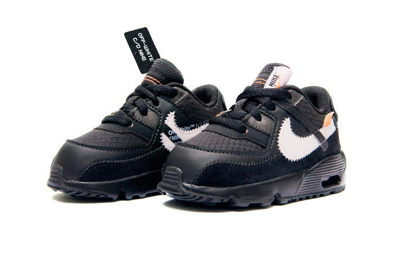 new concept edf44 9440f Off White Nike Air Max 90 Baby Size Release Toddler Desert Ore Black Virgil  Abloh Kids