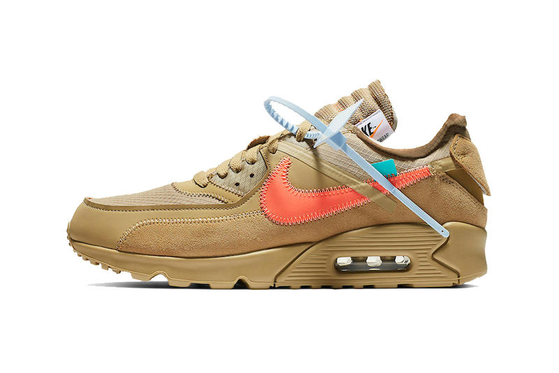 51722a5b09660 off white nike air max 90 desert ore hyper jade bright mango 2019 january  footwear nike