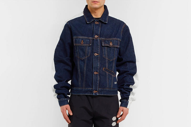 Off-White™ Striped Denim Jacket Release Info mr porter virgil abloh made in italy ss19 indigo 100% cotton release info pricing date