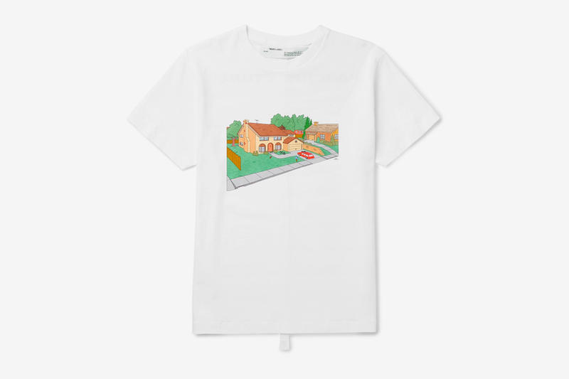 Off White The Simpsons House T Shirt Release Info Date Virgil Abloh white Spring Summer 2019