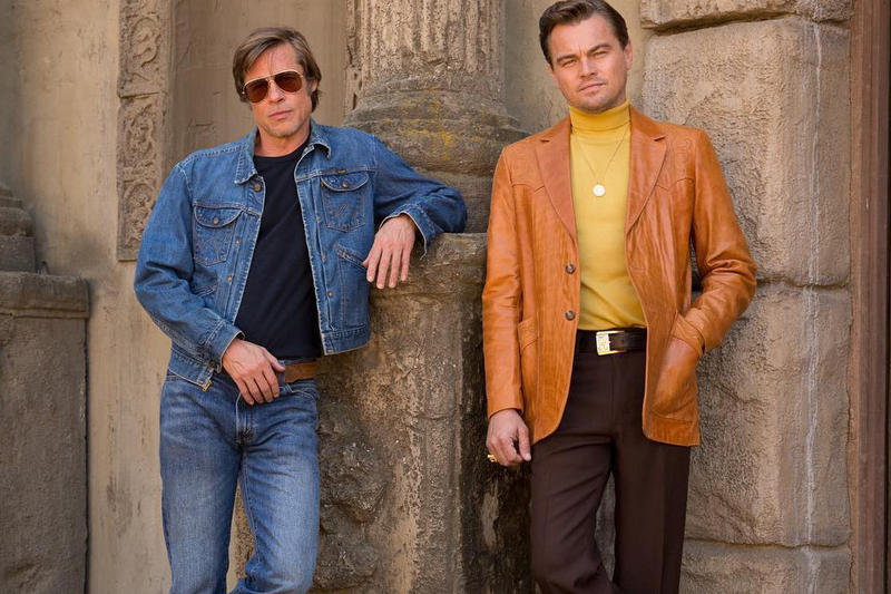 Brad Pitt Leonardo DiCaprio Quentin Tarantino Once Upon a Time in Hollywood first look margot robbie al pacino movies charlie charles manson