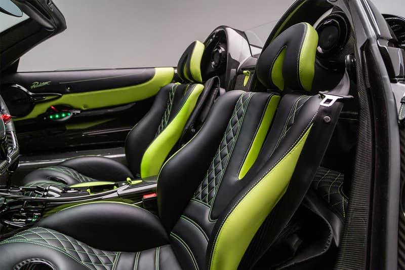 Pagani Newport Beach Acid Green Huayra Roadster Kirby Studios Tyler Lee Pagani Newport Beach supercars hypercars