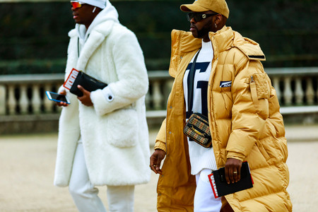 Street Style at Paris Fashion Week: Men's Was Dominated by Bold Layering, Bright Patterns & Outlandish Accessories