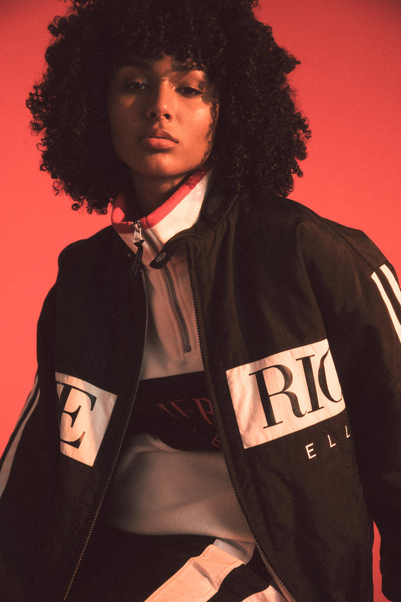 Perry Ellis America II 2019 Lookbook Winter primary colors blue red yellow gold black white denim shirts tees track pants shoes sneaker '90s vintage New York ready-to-wear