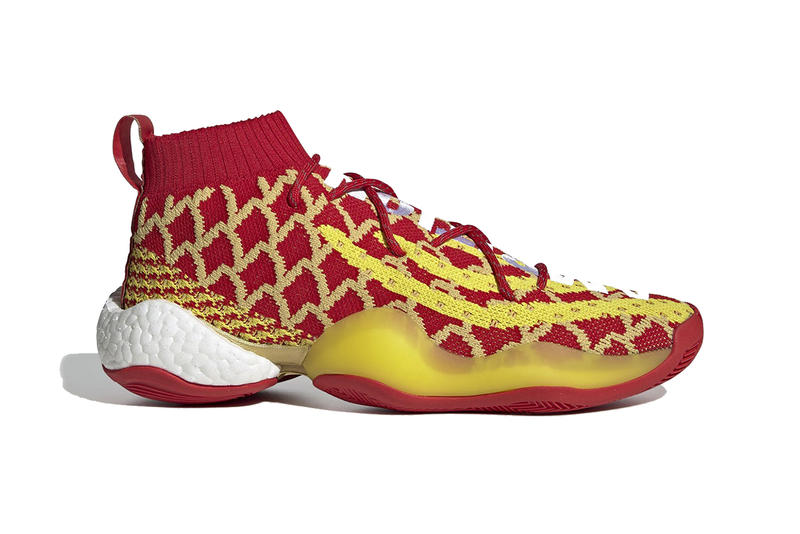 59542ba250a43 pharrell williams adidas crazy byw chinese new year 2019 footwear adidas  originals red gold yellow ambition