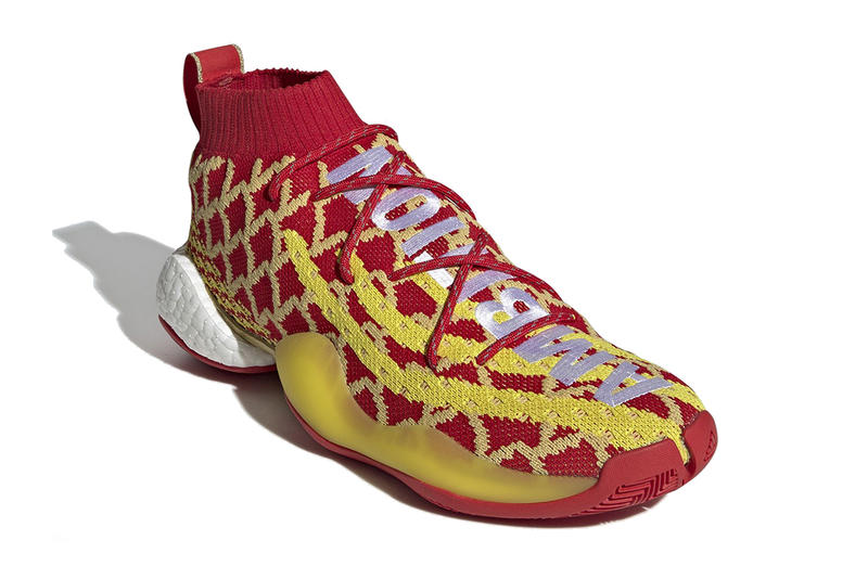 pharrell williams adidas crazy byw chinese new year 2019 footwear adidas originals red gold yellow ambition