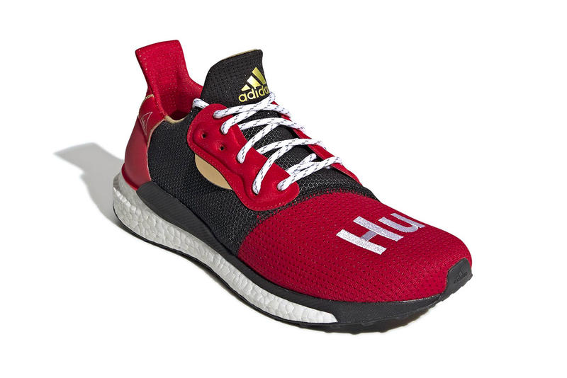 cb901b3ee54b8 Pharrell adidas Solar Hu Glide ST Chinese New Year Release Red Gold Black  Williams Info Date