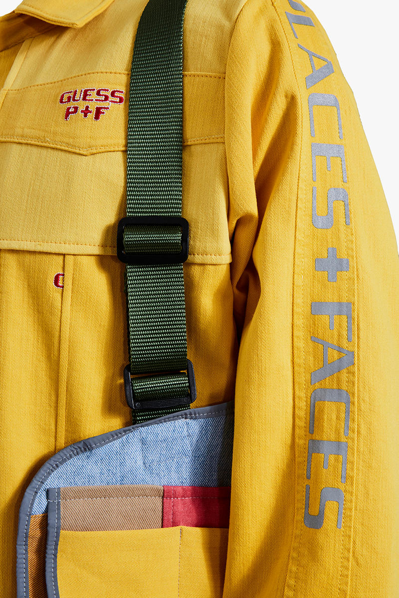 dr romanelli vintage patchwork coat PLACES+FACES GUESS Jeans U.S.A. collaboration gr8 tokyo exclusive drop release date info january 26 2019