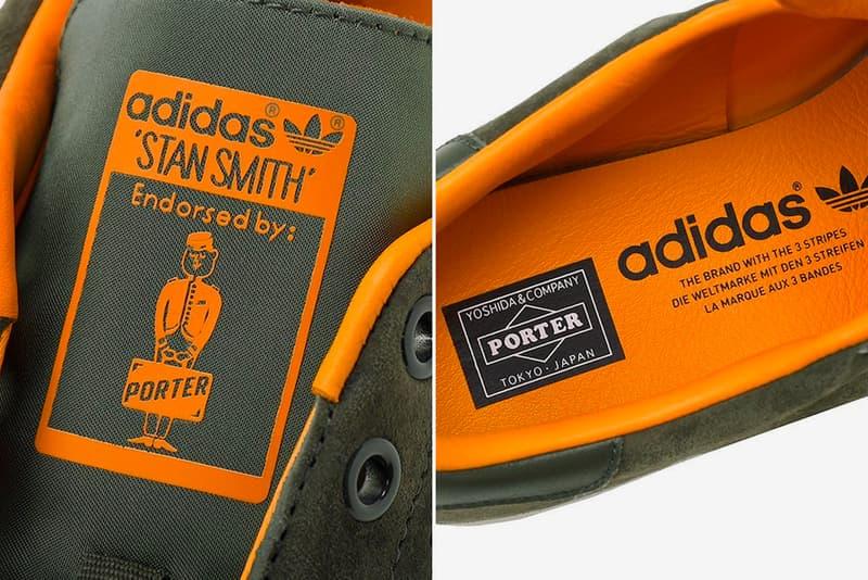 Porter x adidas Tanker Stan Smith Release images drop date raffle price sage green orange