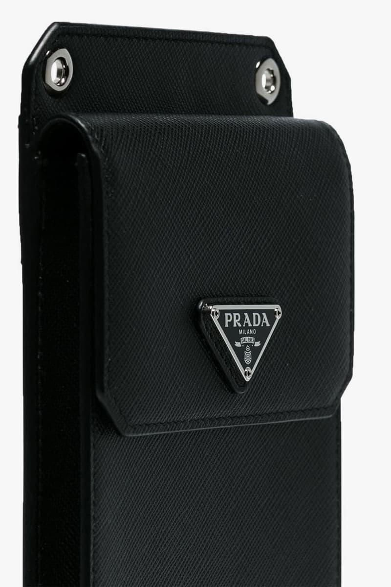 prada detachable strap leather pouch farfetch