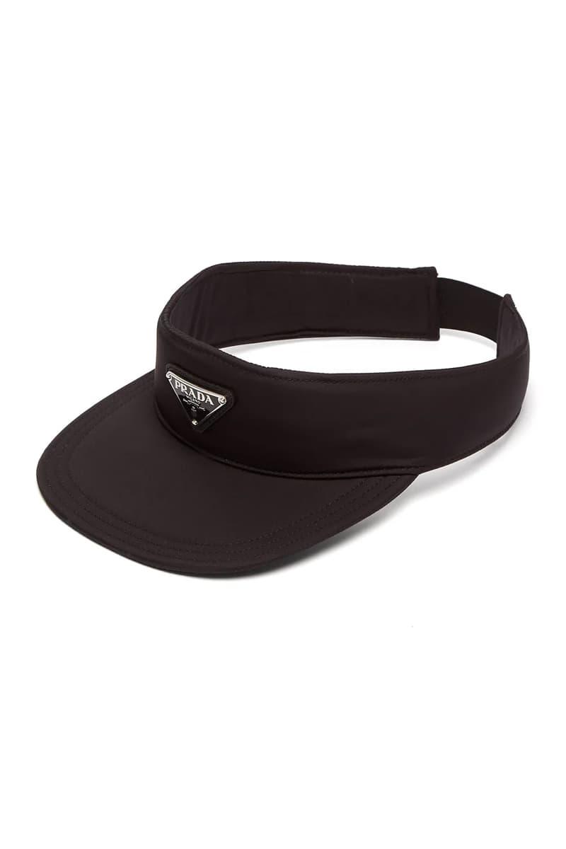 Prada Logo Appliqued Nylon Visor Release Info Date Black Cap Hat