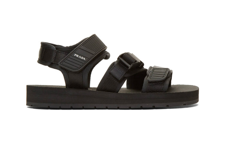 f0a1ca1c8 Prada Releases a Pair of All-Black Tech Sandals · Footwear