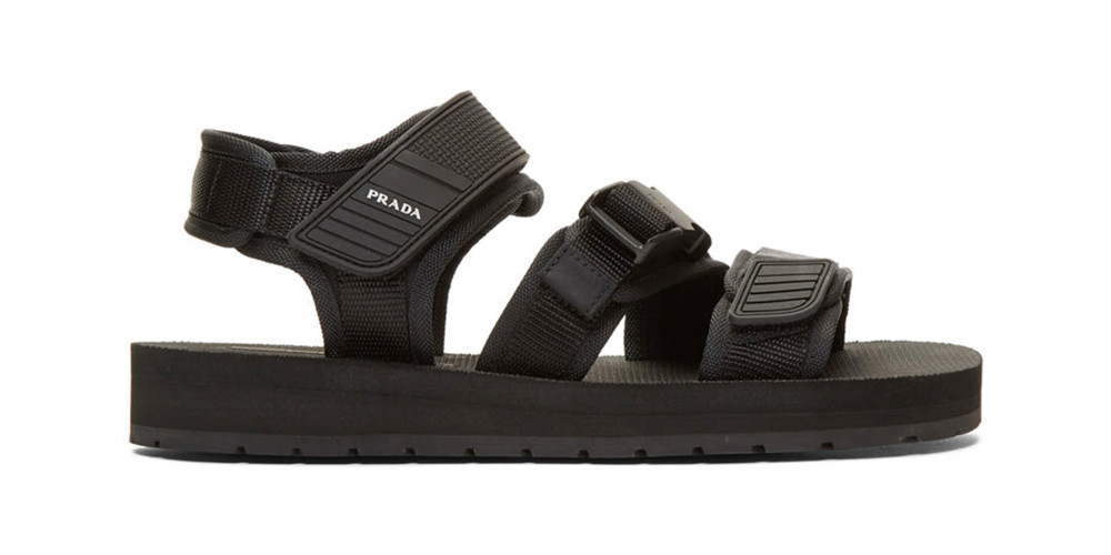 Prada Black Tech Sandals Release Info