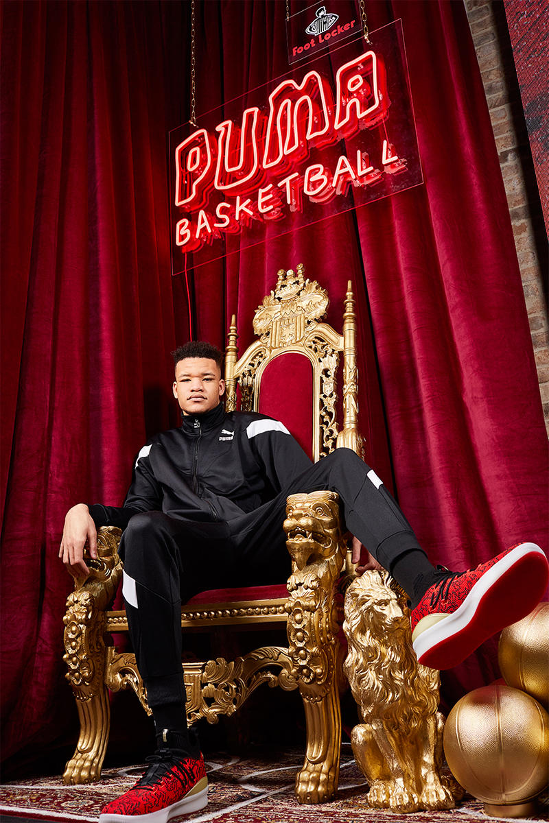 puma clyde court disrupt london 2019 january footwear puma hoops kevin knox new york knicks nba london games