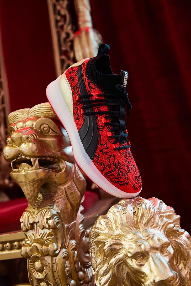 5ea750a0fd94 puma clyde court disrupt london 2019 january footwear puma hoops kevin knox  new york knicks nba