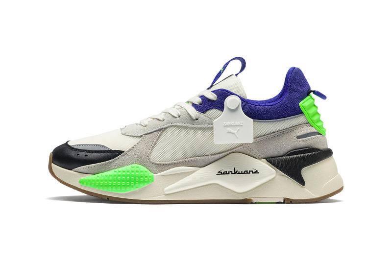 PUMA x Sankuanz SS19 Sneakers Hits the Runway at London Fashion Week men's collection 2019 rs-x cell endura california cali footwear aparel rtw collaboration