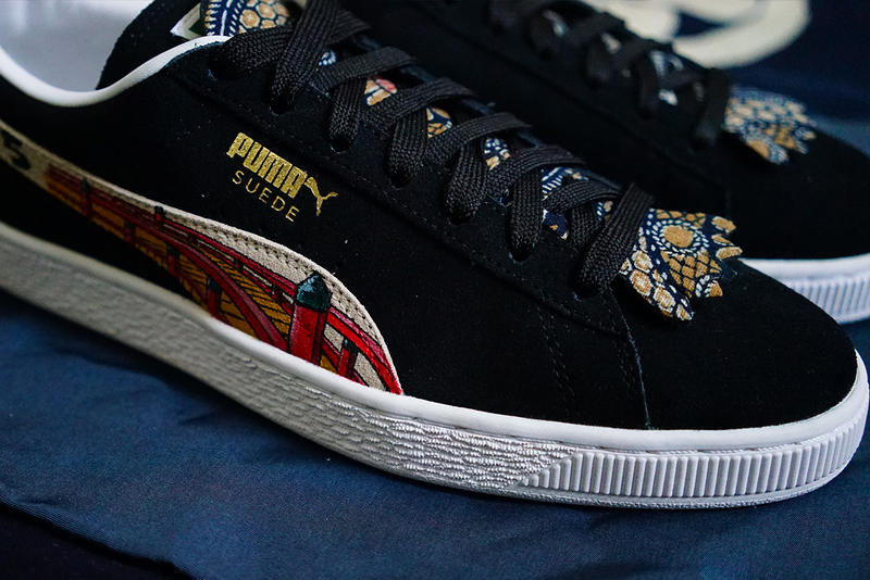 PUMA Suede Ukiyo-E Custom Flying Hawk Studios II 2 simply union collaboration pre order bespoke handmade buy