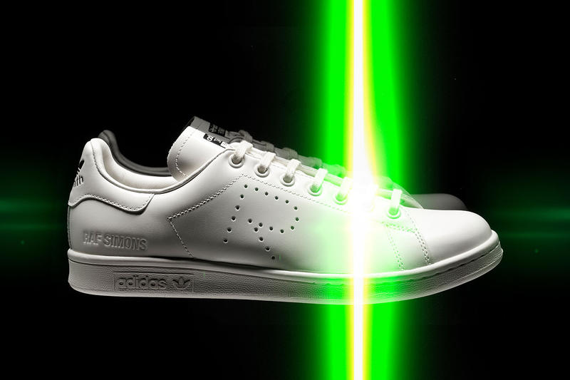 raf simons adidas stan smith collaboration spring summer 2019 colorway tom greyhound paris fashion week april 2019 release date drop buy info L.A. Trainer torsion conquest super micropacer