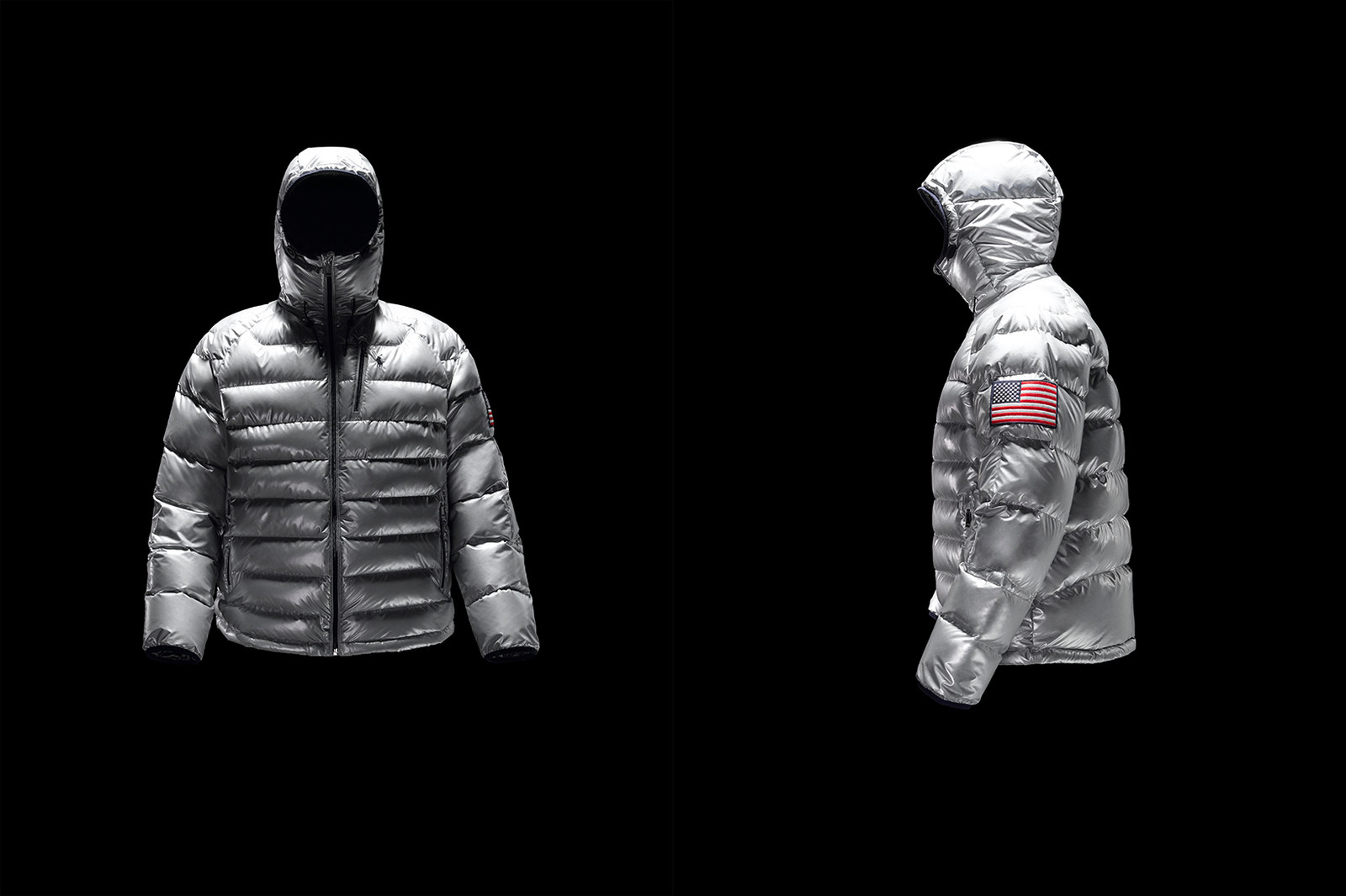 Ralph Lauren Polo 11 High Tech Heated Jacket App Glacier Down White Navy Silver Thermal Battery