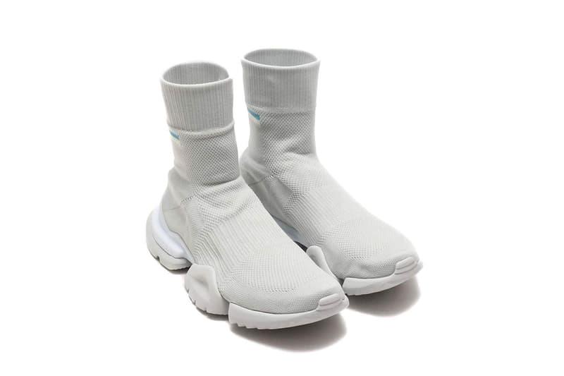 reebok sock run r grey white release info