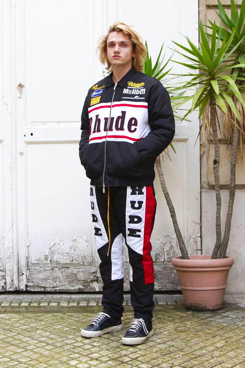 RHUDE Fall Winter 2019 Collection Lookbook RHUIGI VILLASENOR jackets coats tracks pants shoes vans sneakers hoodie horsepower