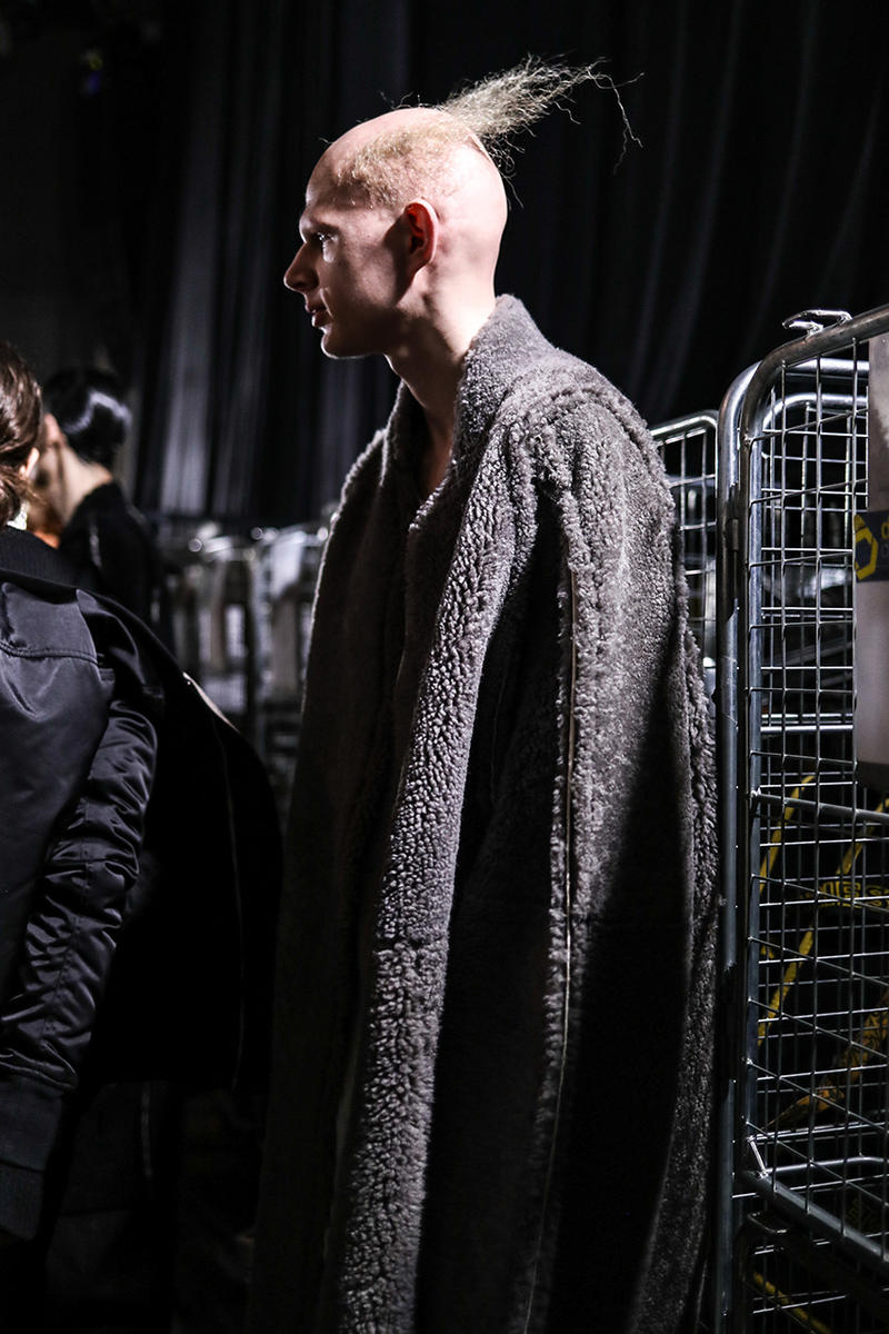 Rick Owens Fall/Winter 2019 Backstage Paris Fashion Week Veja Collaboration Larry Legaspi Kiss Labelle First Look Closer collection