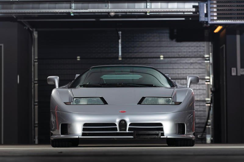 RM Sothebys 1994 Bugatti EB110 Super Sport Auction Silver Car